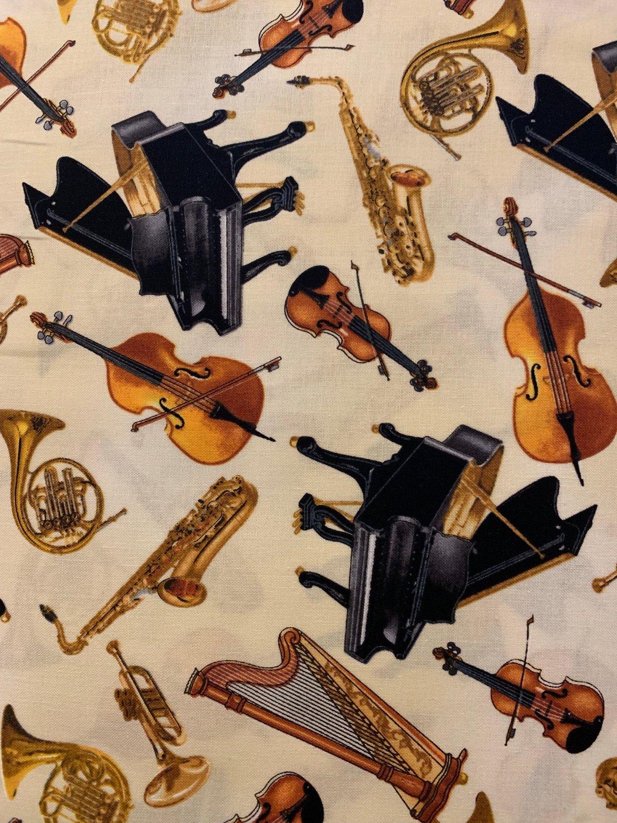 Concerto Music 6240-07 Instrument Toss Cream