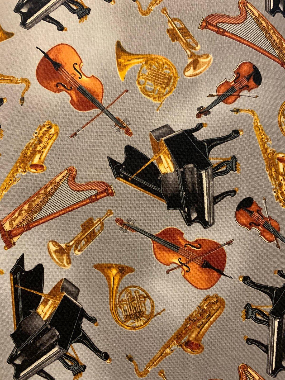 Concerto Music 6240-11 Instrument Toss Grey