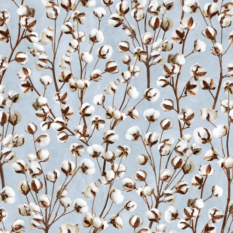 Cotton Blossoms C7177 Blue
