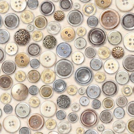 Cotton Couture 27866-E Buttons Cream