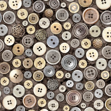 Cotton Couture 27866-K Buttons Charcoal