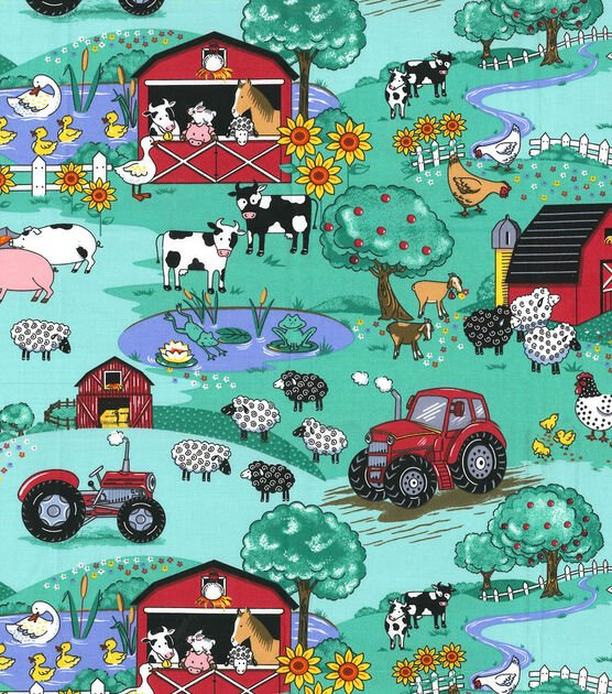 Country Farm Scene 4389 Green
