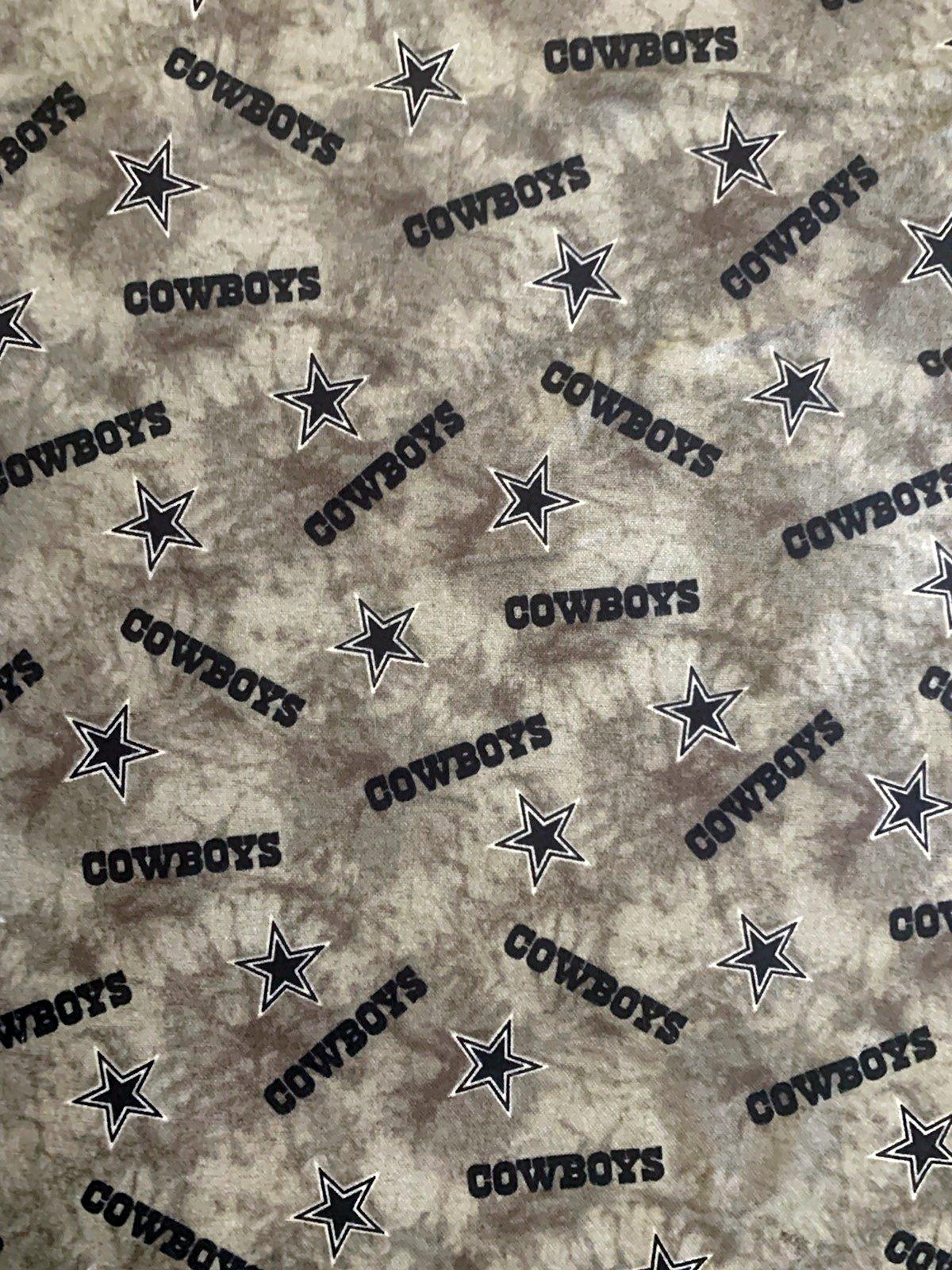 NFL Logo Dallas Cowboys 14765 Grey Tie Dye FLANNEL 45