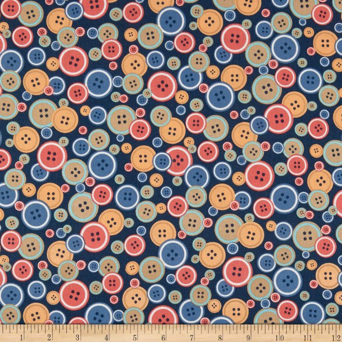 Crafters Gonna Craft 51038-2 Buttons on Navy