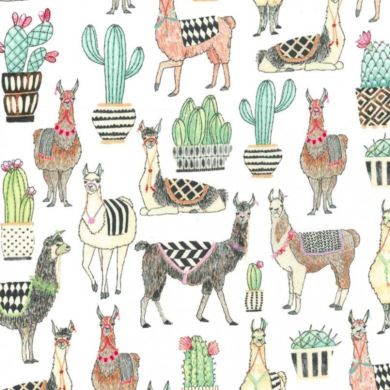 Lovely Llamas CX7297 White