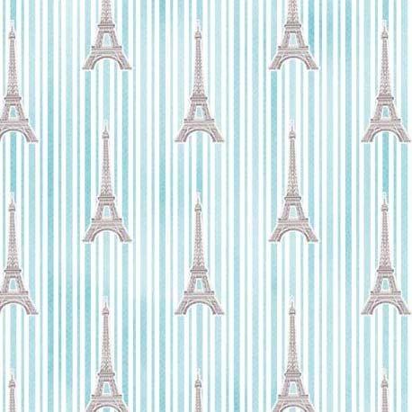 Paris Eiffel Stripe CX9629 Aqua