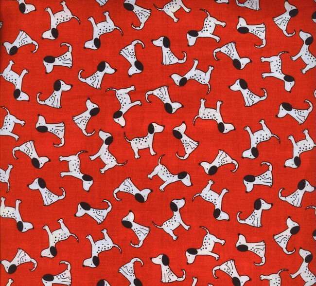 Dalmation Print Gail C1039-Red