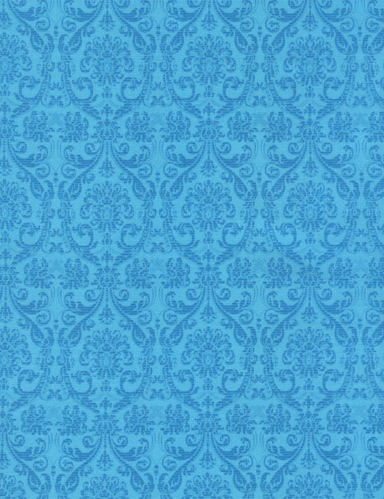 *EOB* Damask Tapestry Turquoise C4186 - 0.55 YD