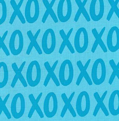 Glam Girls DC8248 XOXO Aqua