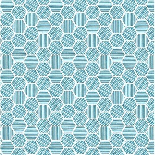 Queen Bee DC9157 Blue Hexagons