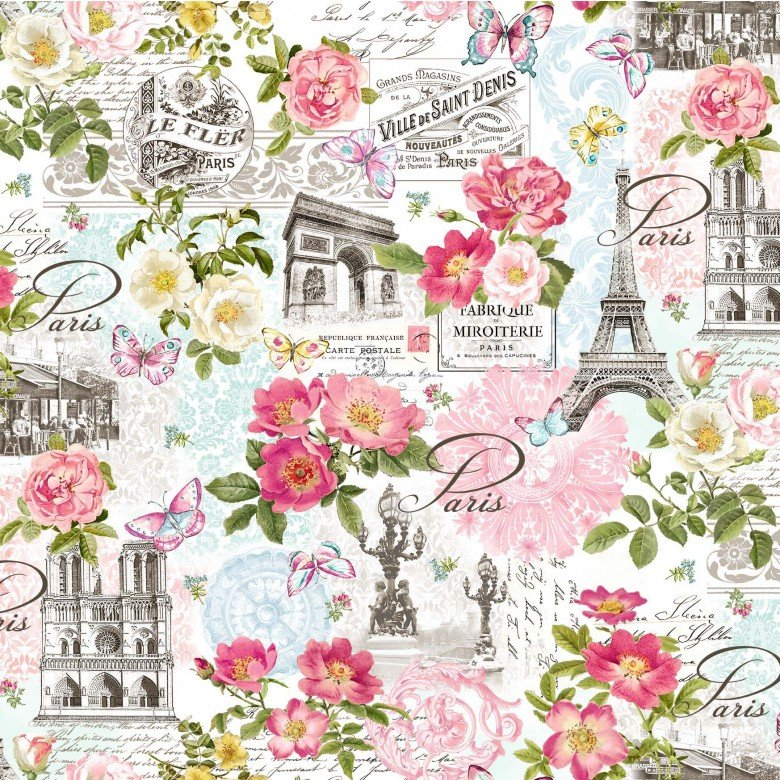 Paris in Bloom DCX9623 White