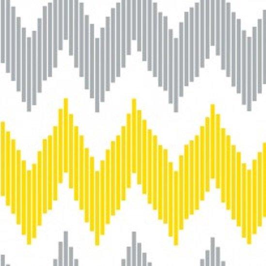 Design Studio Yellow Pinstripe Chevron 2140506-2