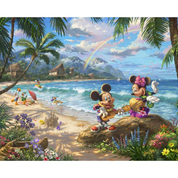 Disney Magic 2049 Mickey & Minnie In Hawaii Panel