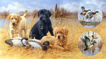 Faithful Friends DP 22734-30 24 Bird Dog Panel