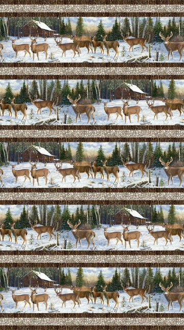 Pine Valley Deer DP-22856-10 Border Stripe