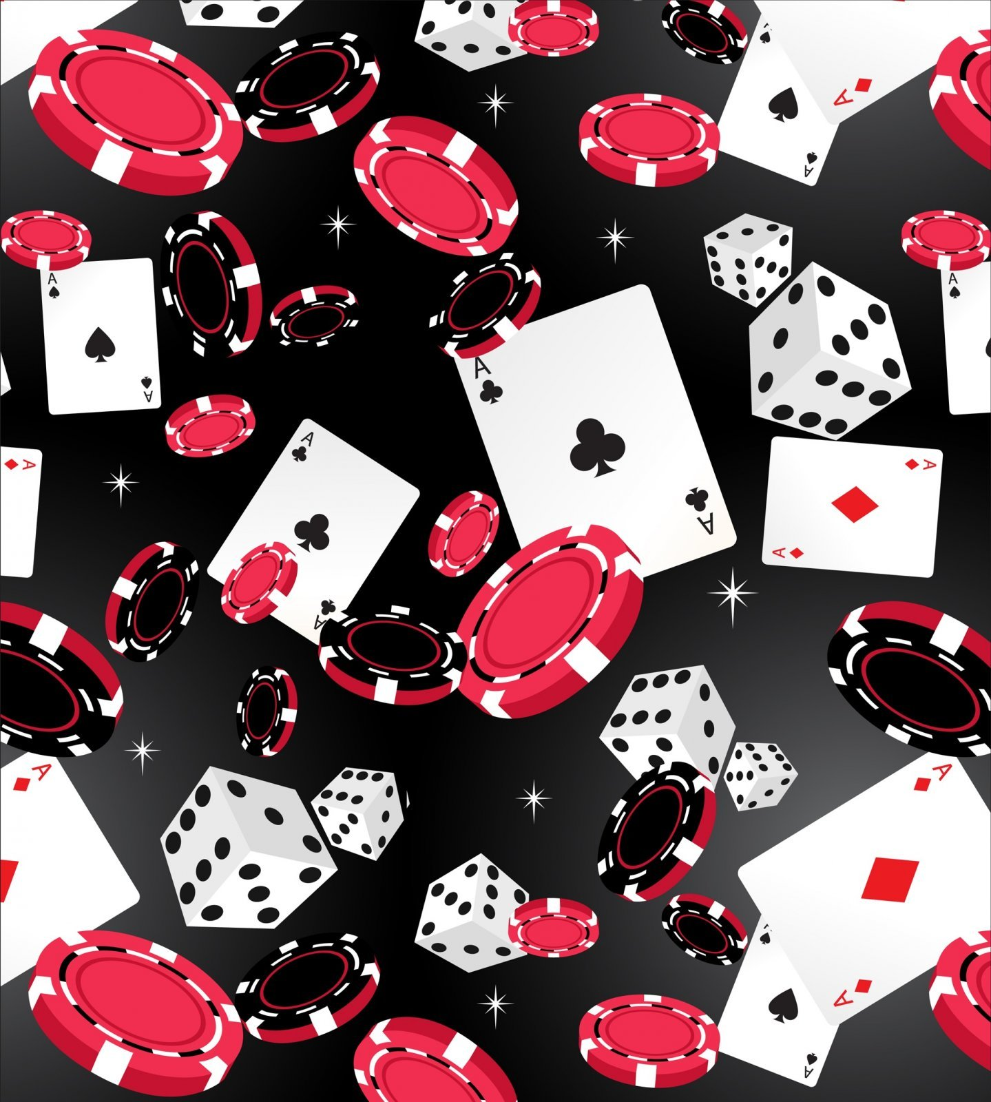 Casino 2530-1 Black Dice Chips Cards