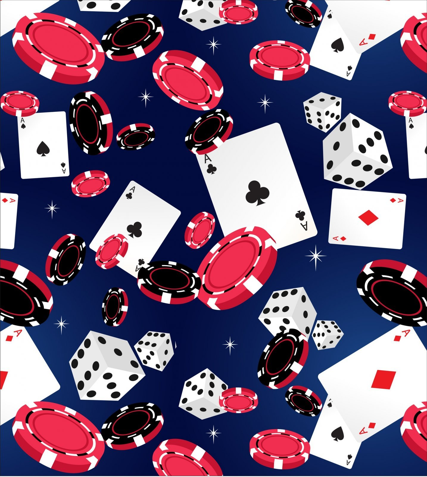 Casino 2530-2 Blue Dice Chips Cards