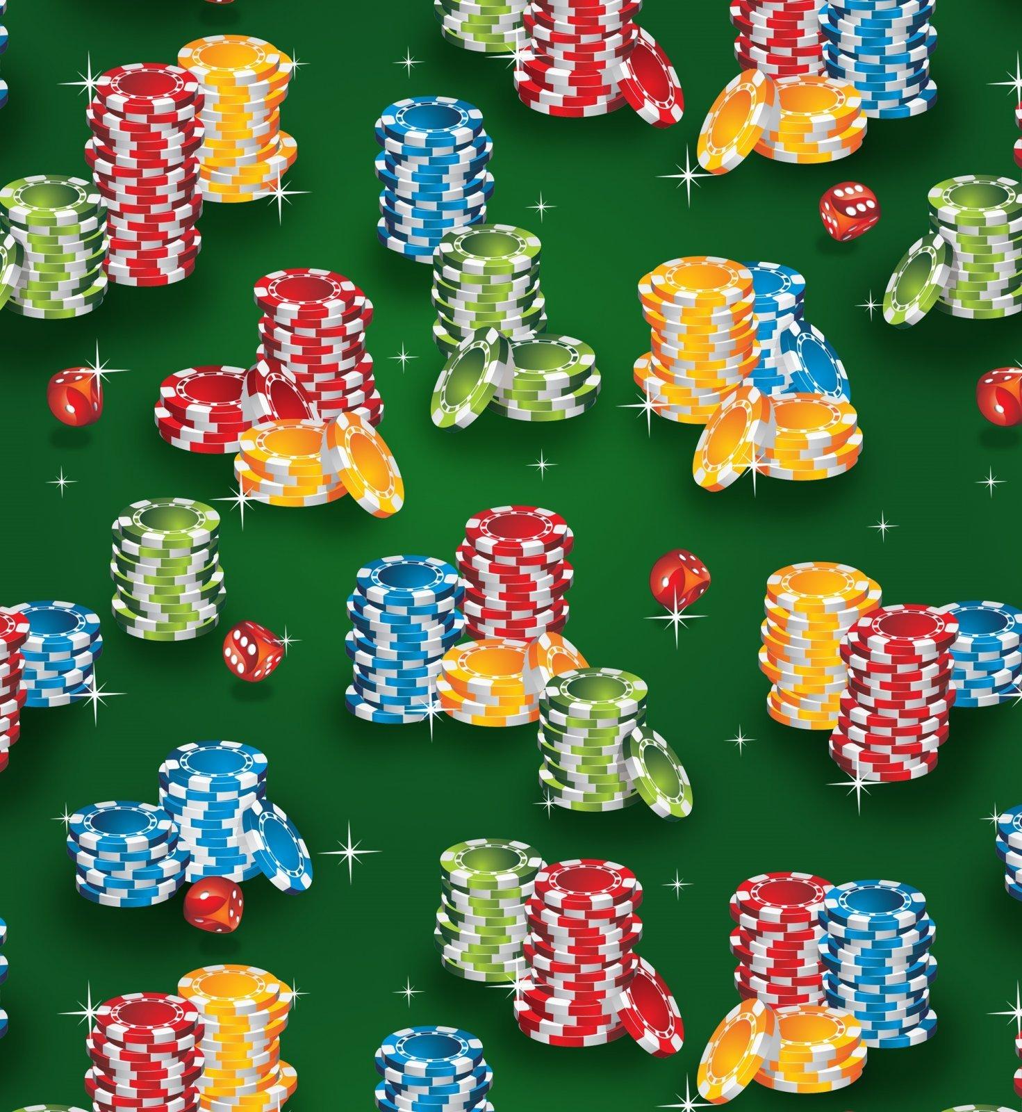 Casino 2562 Poker Chip Piles Green