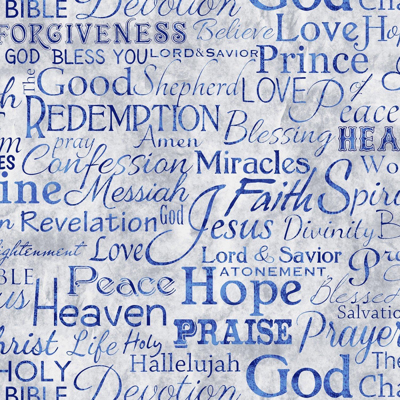Faith C4720 Blue Words on Light Blue