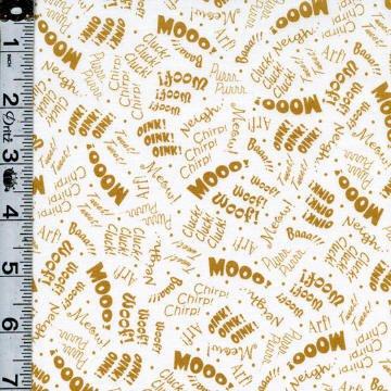 Farm Animal Sounds 24950 Gold/White