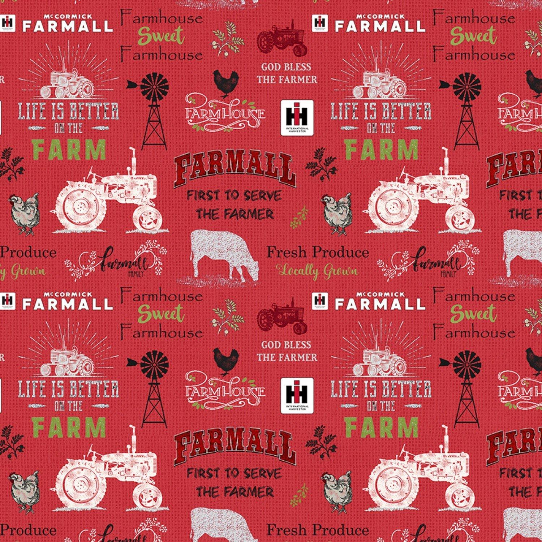 Farmall 10341 Red Chalkboard