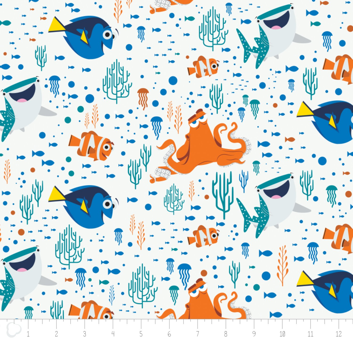 END OF BOLT Finding Dory White 85170102 2 - 7/8 YD