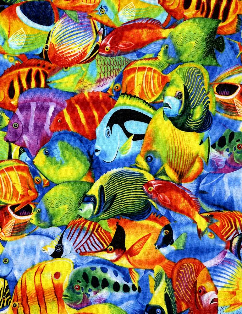 *EOB* Tropical Fish C1388 - 0.36 YD