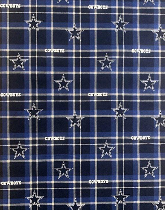 NFL Logo Dallas Cowboys 14930 Plaid FLANNEL 45