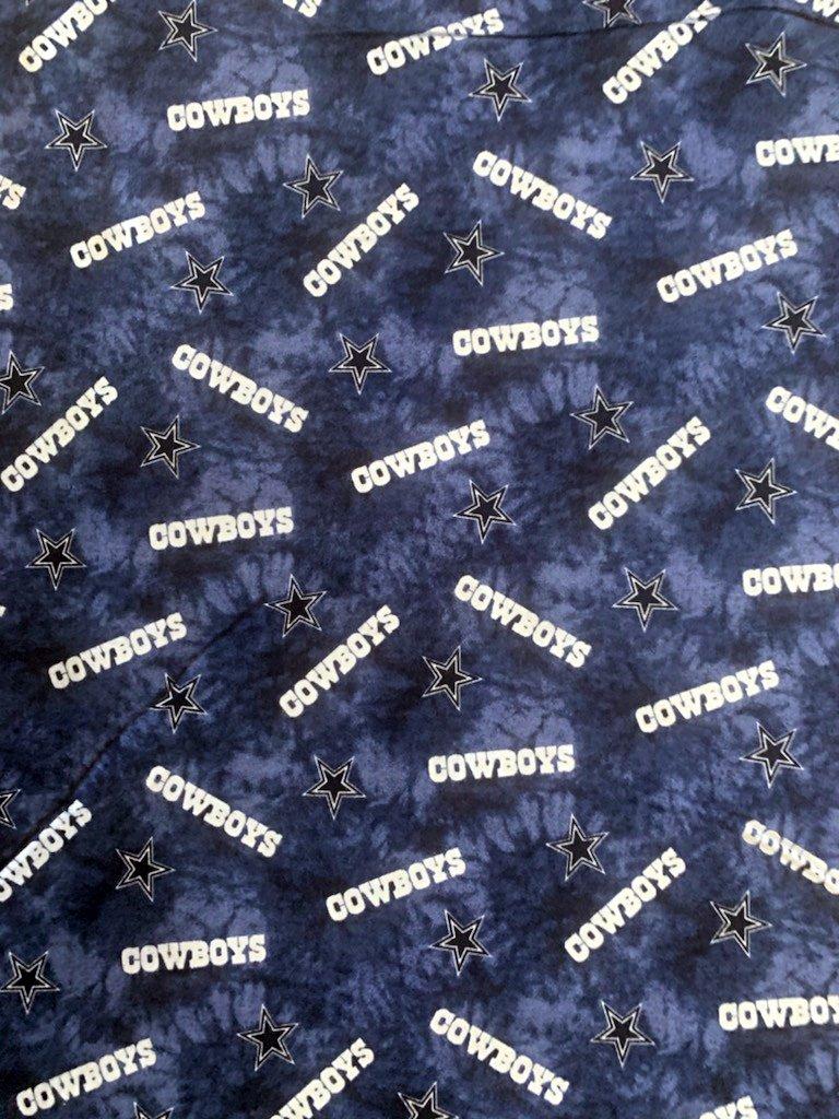NFL Logo Dallas Cowboys 70116 Navy Tie Dye FLANNEL 45