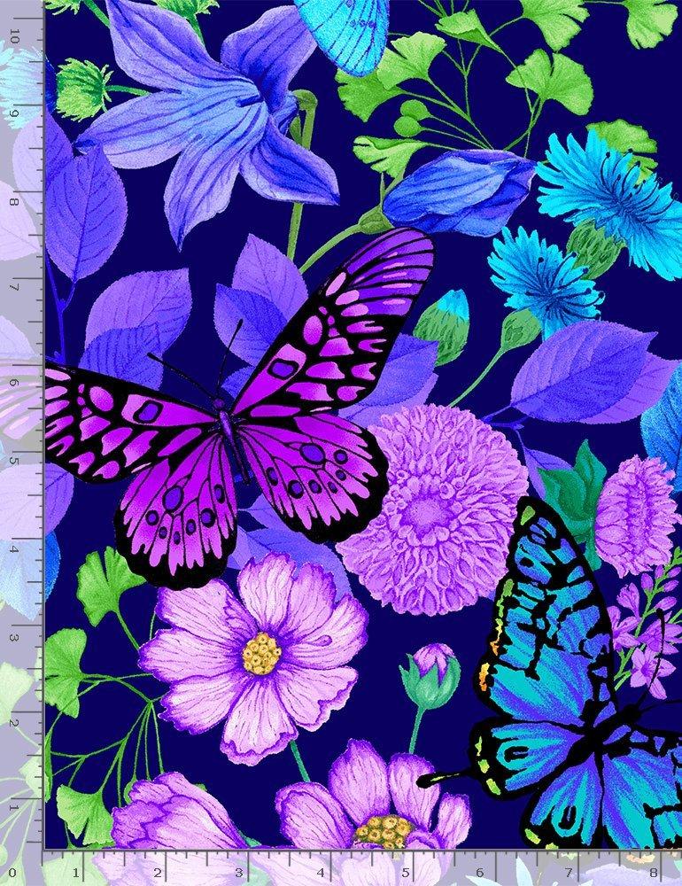 Forest Magic CD8371 Butterflies & Flowers Blue