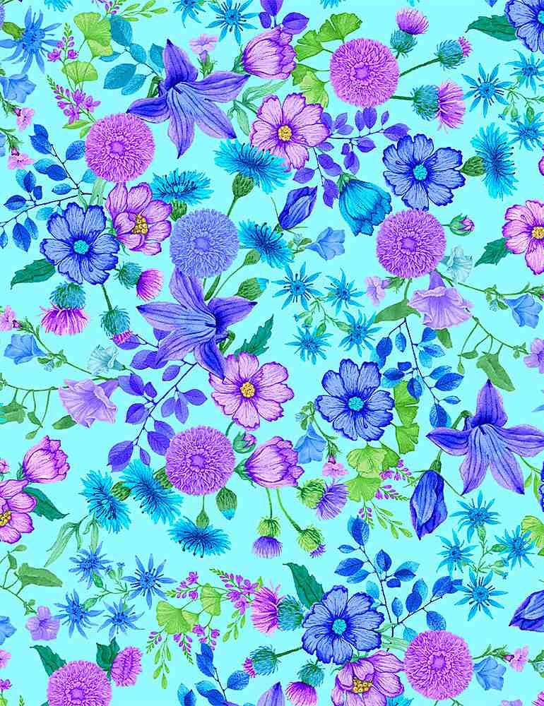 Forest Magic CD8372 Floral Aqua