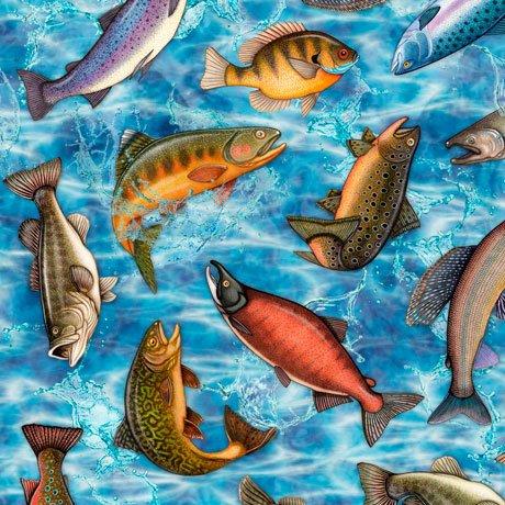 Fresh Catch 27205-B Fish Blue