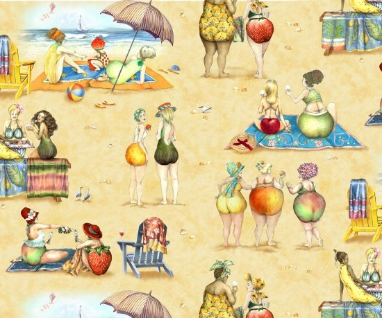 Fruit Ladies 1519 Sand Scenes