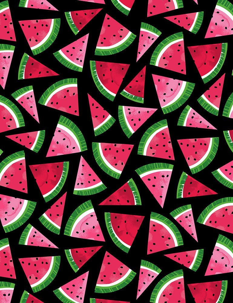 Fruit Watermelon C7336 Slices on Black