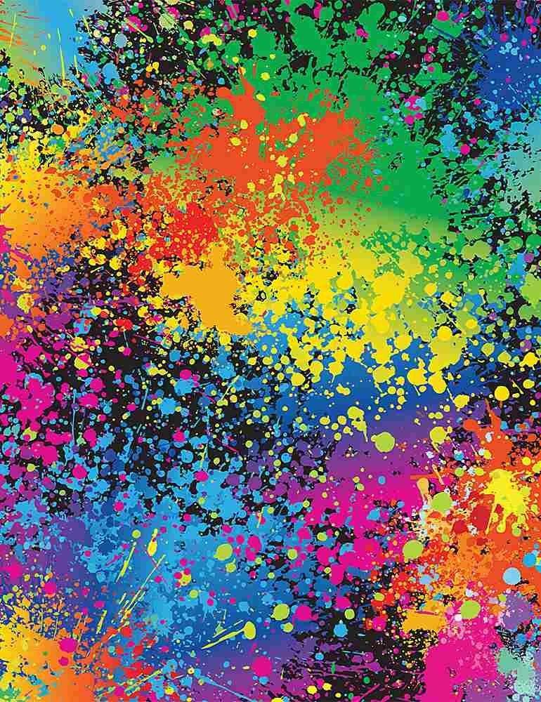 Rainbow C8587 Neon Splatters Multi