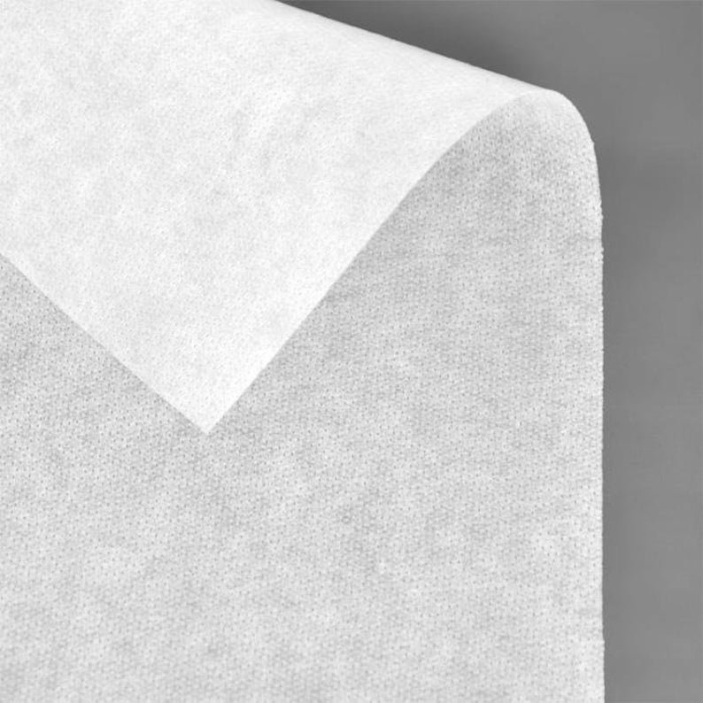 Bosal Non-Woven Fusible FEATHER Weight Interfacing #316 White
