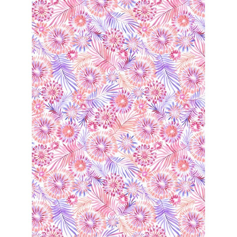 Tropical Breeze 9721 Floral White