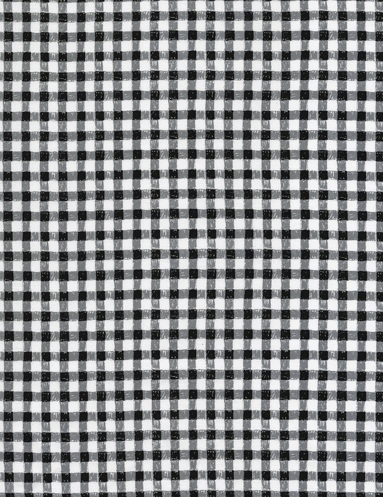 You Are My Sunshine C5497 Gingham Check Black