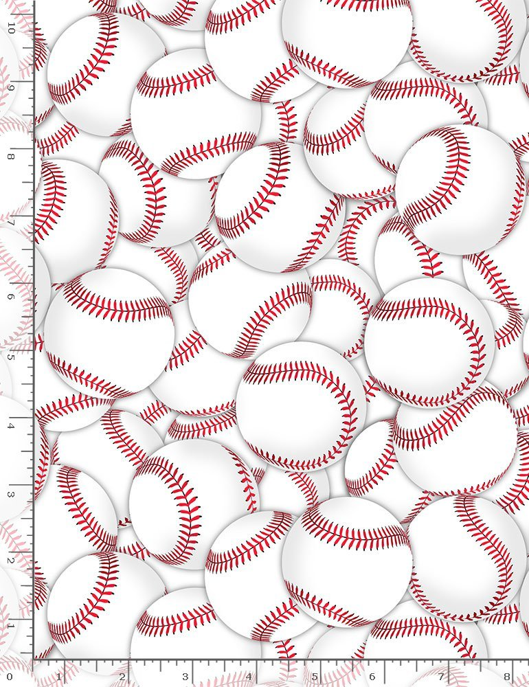 Baseballs Packed C8315 White
