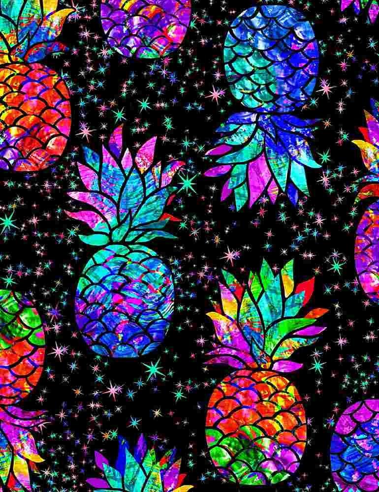 Galaxy Pineapples C7948 Black
