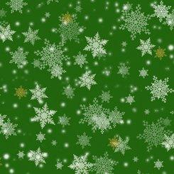 Gifts from Santa 27737-G Snowflakes Green