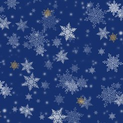 Gifts from Santa 27737-Y Snowflakes Royal