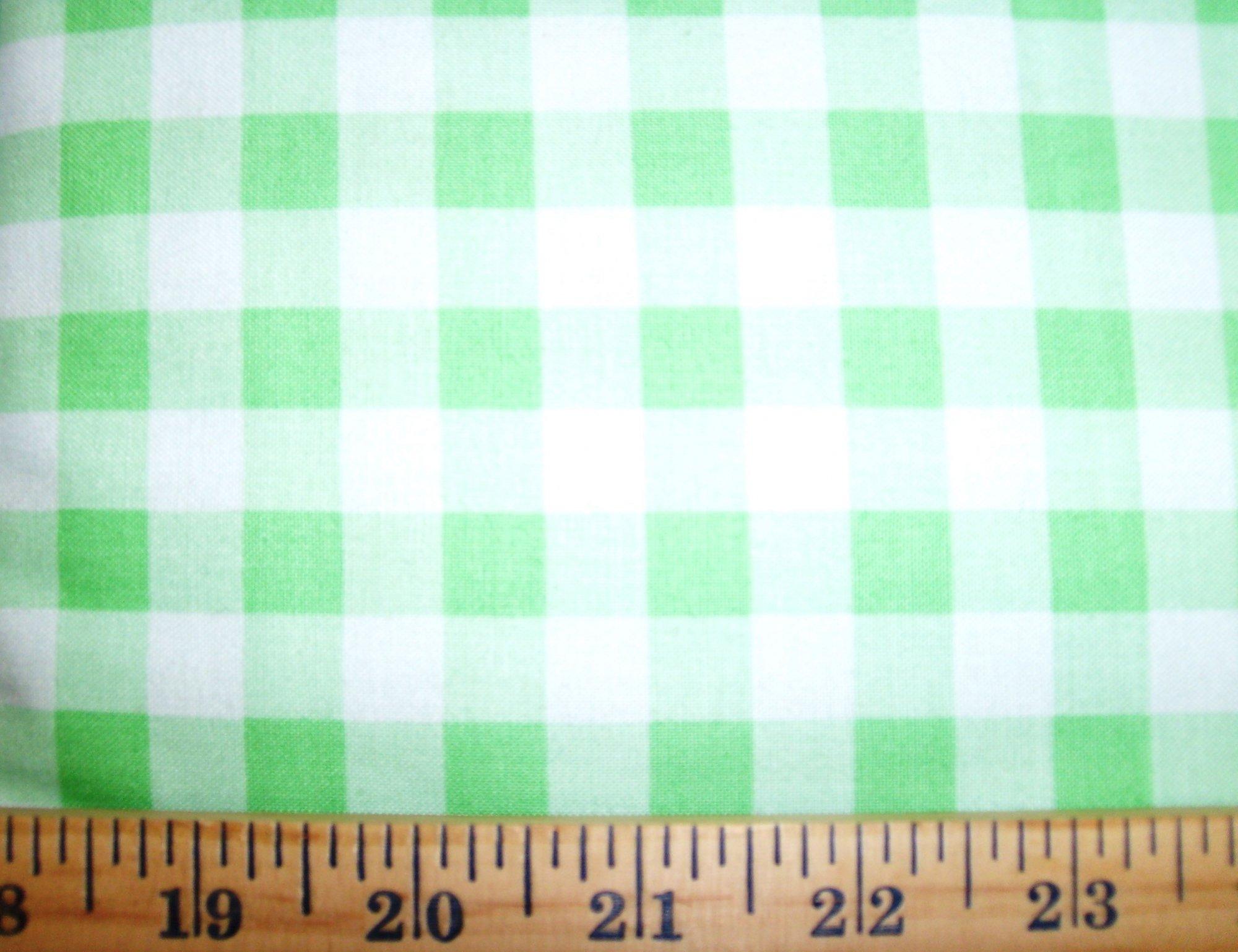 Gingham Check Light Green 1/2 29397-13