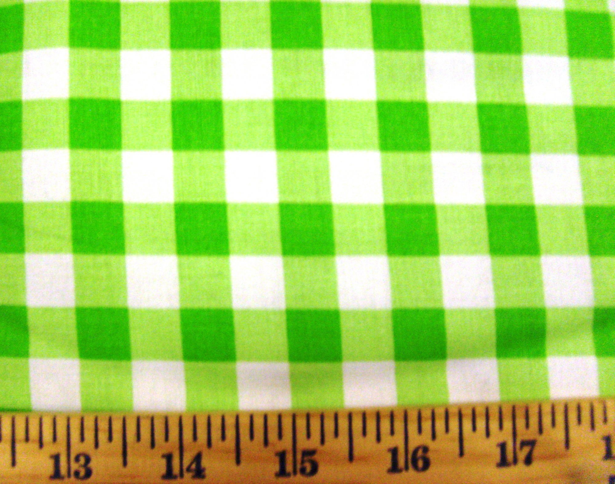 Gingham Checks 1/2 Lime 29397-3