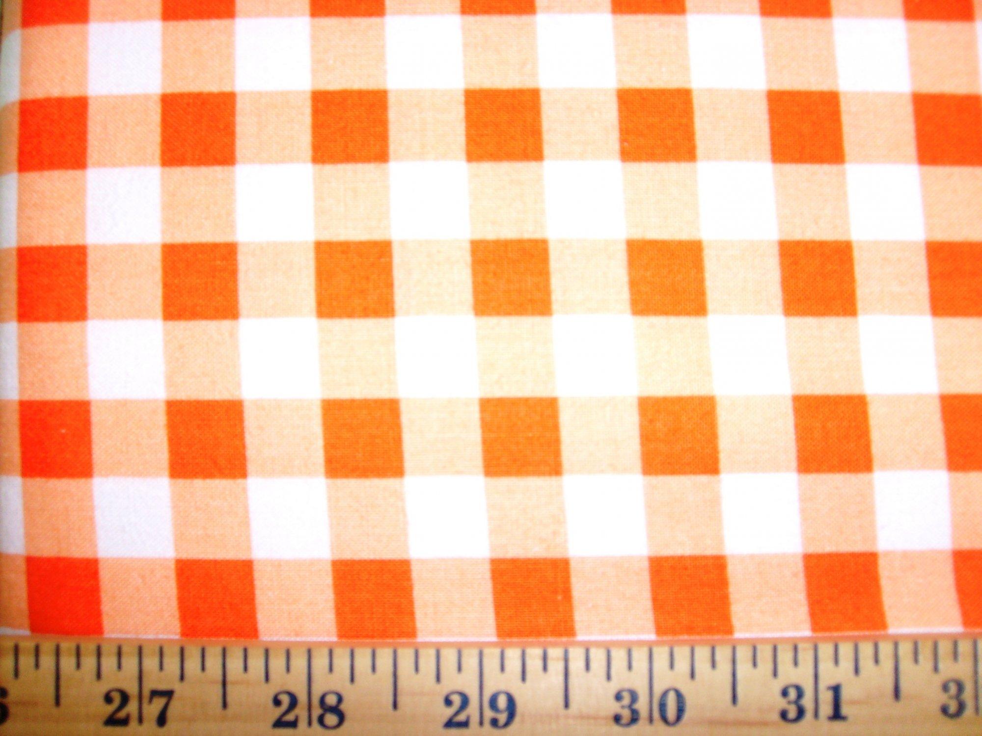 Gingham Checks Orange 1/2 29397-8