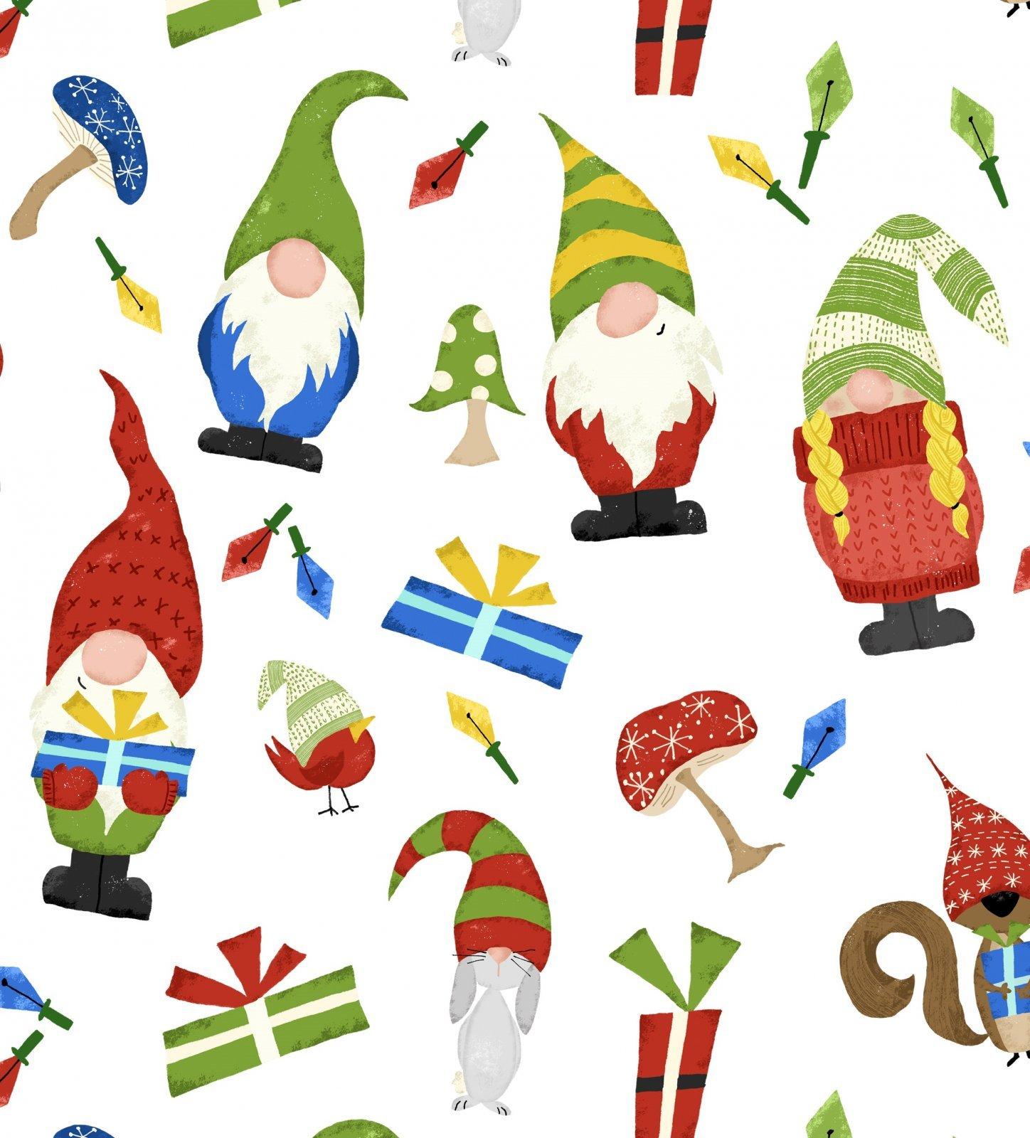Gnomes & Presents 3189-9C White