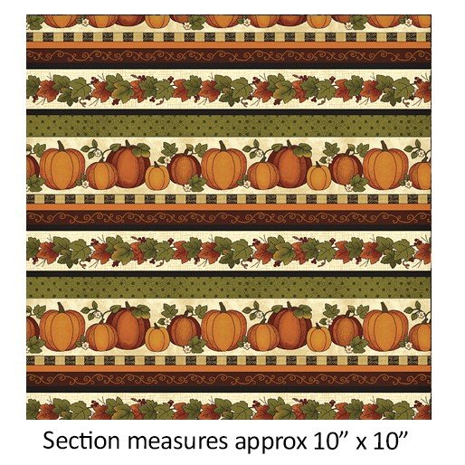 Harvest Pumpkins 7561-07 Border Stripe
