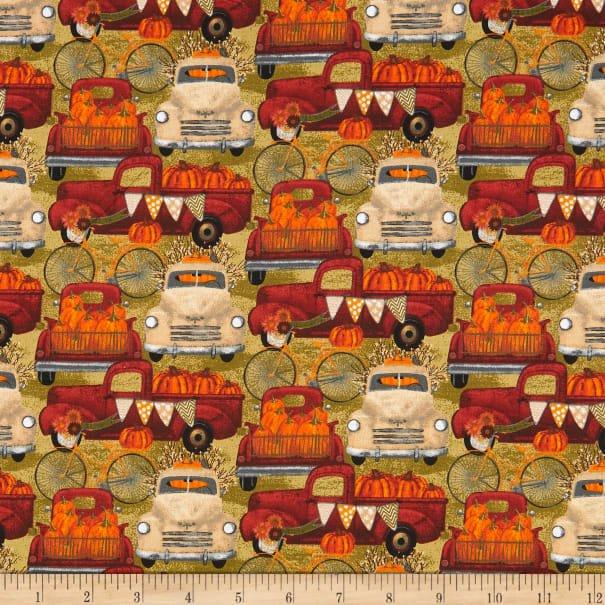 Hauling Pumpkins 16636 Tan