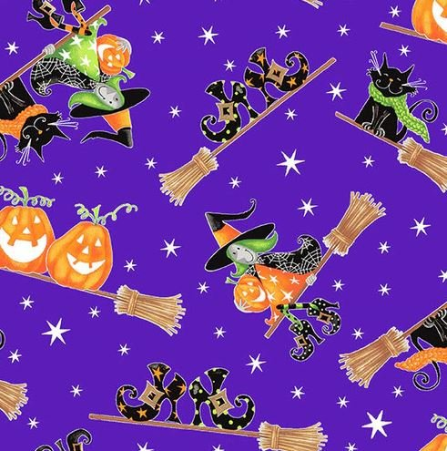 Here We Glow 9536G-53 Witches Purple