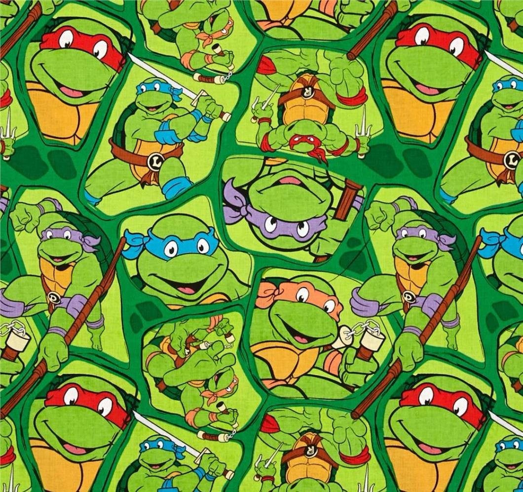 END OF BOLT Ninja Turtles Heroes in a Half Shell Toss 46332- .74 YD